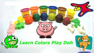 Learn Colors Play Doh Ice Cream Peppa Pig Elephant Molds Fun & Creative for Kids  - Video