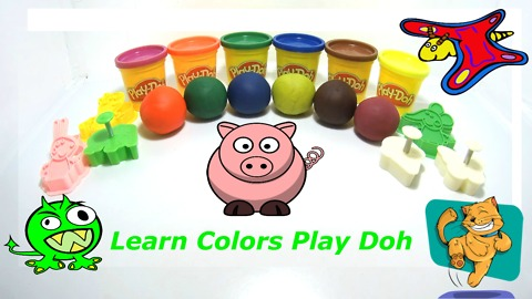 Learn Colors Play Doh Ice Cream Peppa Pig Elephant Molds Fun & Creative for Kids