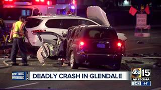 Man killed in Glendale crash - Video