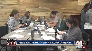 Get your taxes filed for free at Kansas City police stations - Video