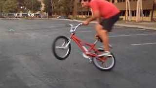 50-Year-Old Daredevil Demonstrates Slick BMX Skills - Video