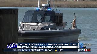 Natural Resource police urging boaters to be safe - Video