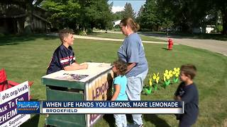Brookfield boy raising money to fight Alzheimer's disease - Video