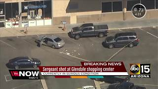 Glendale officer seriously hurt during shootout with suspect - Video