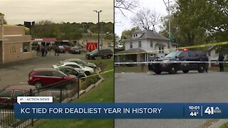 KC tied for deadliest year in city's history