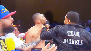 Boxing Trainer SUCKER PUNCHES Jose Uzcategui After Late Hit on Andre Dirrell - Video