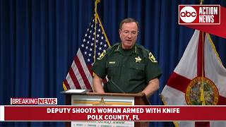 Polk deputy shoots woman armed with knife | Presser