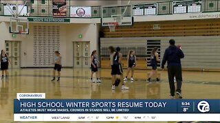 High school winter sports resume today
