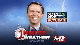 Florida's Most Accurate Forecast with Greg Dee on Monday, October 1, 2018
