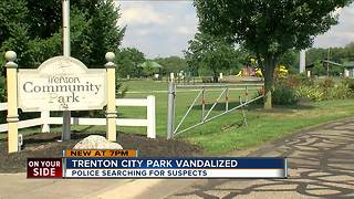Trenton city park vandalized - Video
