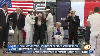 Five World War II veterans receive France's highest honor - Video