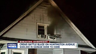 Crews battle blaze on Huntington Avenue