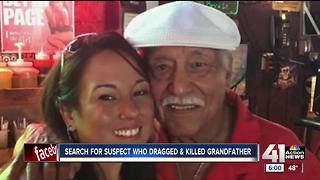 Police still searching for suspect who dragged & killed grandfather - Video