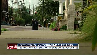 Detectives investigating 2 attacks in Ybor - Video