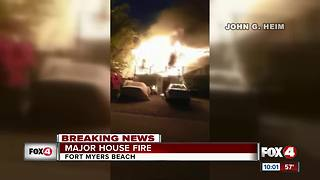 Major house fire on Fort Myers Beach - Video