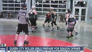 Queen City Roller Girls league attracts skaters from different states and countries! - Video