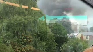 Smoke From Recycling Plant Fire Spotted in Greater Manchester