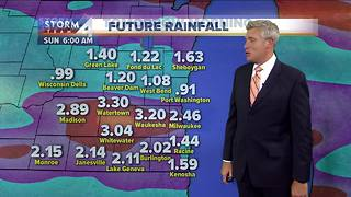 Mostly cloudy with scattered showers Friday - Video