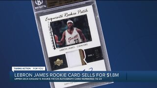 LeBron James rookie card sells for $1.8 million