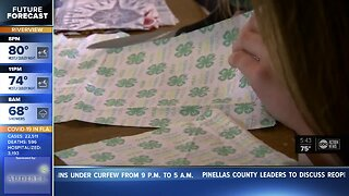 Two Pinellas County middle school girls help make masks