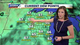 Cloudy and cooler tonight