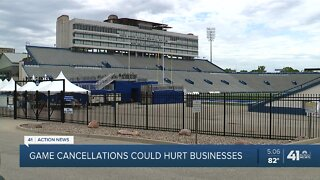 Lawrence businesses worry over the future of college football