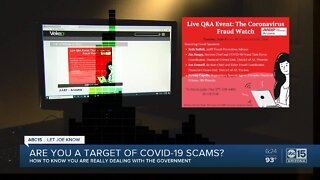 Are you a target of COVID-19 scams?