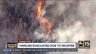 Tinder wildfire grows to over 8,000 acres burned - Video