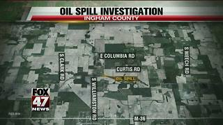 Oil spill in Ingham County being investigated