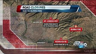 Burro Fire road closures and map - Video