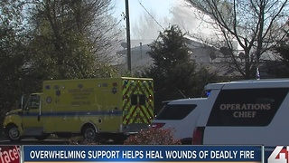 Lee's Summit helps families displaced by fire - Video
