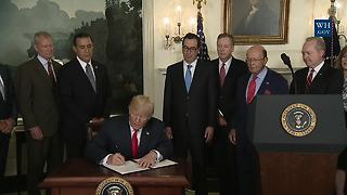 President Trump Signs Memorandum Addressing China's Intellectual Property Laws - Video
