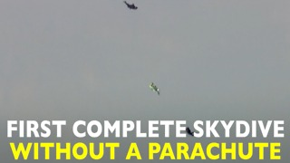 Incredible Skydive Without A Parachute - Video