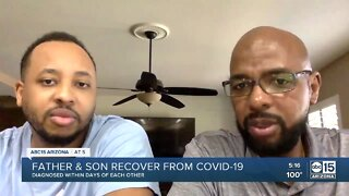 Father, son share message after both being hospitalized for coronavirus