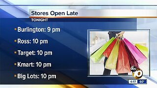 Last-minute shoppers rush to check off their list