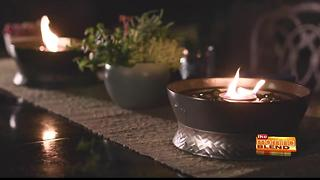 Setting the mood for a backyard gathering with fire - Video