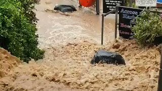 Cornish Fishing Village Hit by Flooding - Video