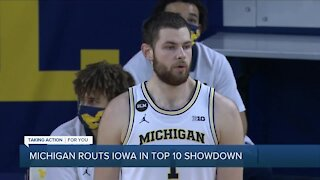 Hunter Dickinson, Juwan Howard praise Luka Garza after Michigan beats Iowa