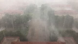 Gusty Storm Blows Over University of Texas - Video