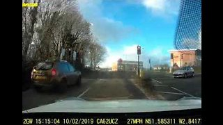 Head-On Collision in Wales Caught on Dash Cam