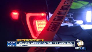 Police investigate La Mesa carjacking - Video