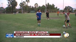 Man stabbed near Encanto playground - Video