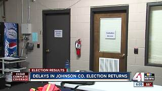 Officials cite 'slow reporting' for Johnson County vote delay - Video