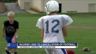 Catholic Central High School cancels football season for players' safety - Video