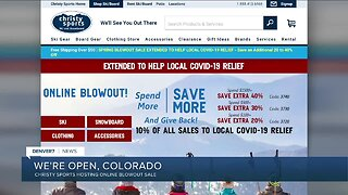 "Christy Sports says, ""We're Open Colorado"" online"