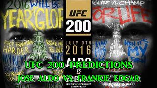UFC 200 INTERIM FEATHERWEIGHT TITLE: JOSE ALDO VS. FRANKIE EDGAR PREDICTIONS - Video