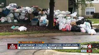 Trash piling up at Fort Myers apartment complex