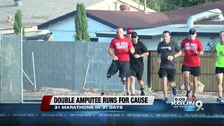 Double-amputee marathoner stops in PHX for run - Video