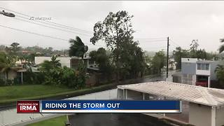 Man with ties to Racine riding out Hurricane Irma in Puerto Rico GS - Video