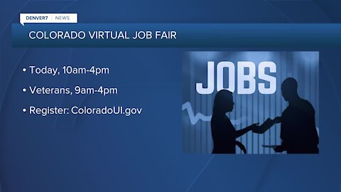State-wide, virtual job fair today
